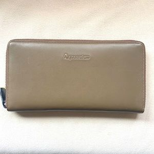 AQUASCUTUM of London Leather and Plaid Wallet new